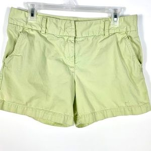 J. Crew Short Shorts Lime Green Sz 8 Low Fit